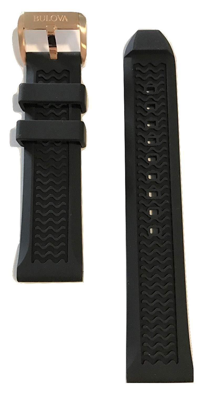 e823c5df0 Original Bulova Black Rubber Band Strap for Bulova Marine Star Watch 97B153