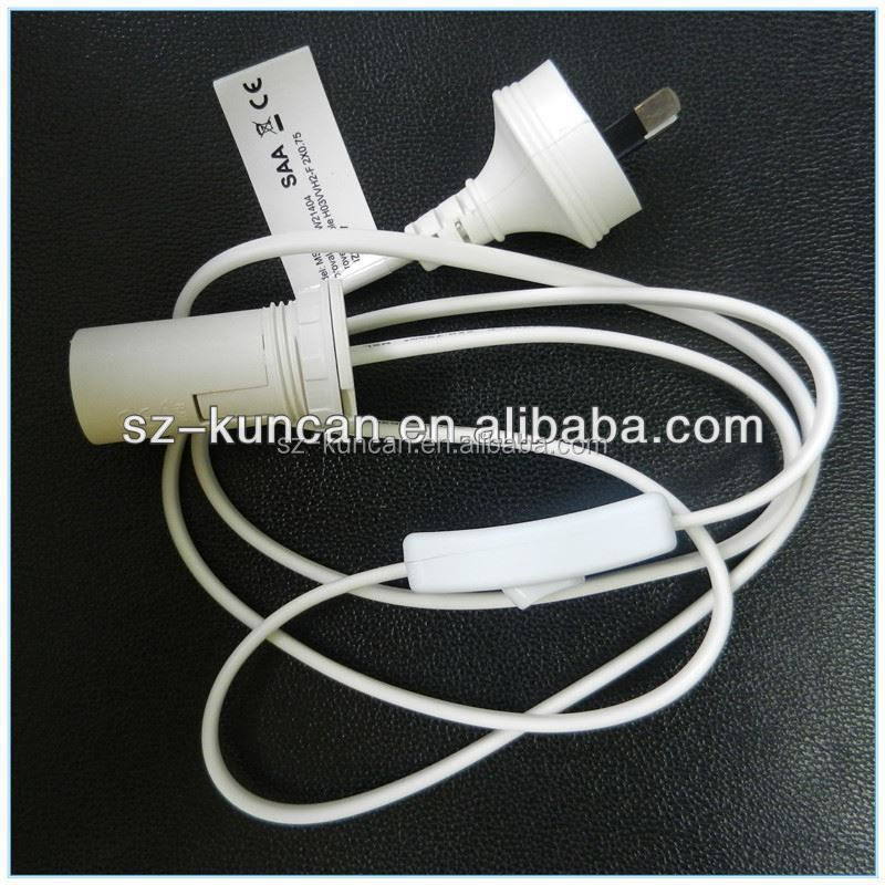 clamp E27 Lamp holder with switch,lamp holder cable with switch, power cable with switch