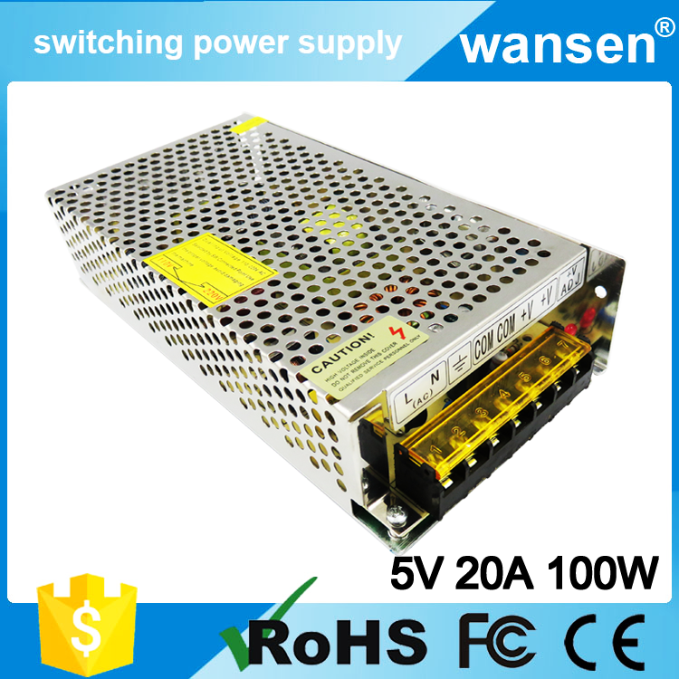 ac to dc 5v 20a 100w led power supply circuit diagram S-100-5 OEM/ODM