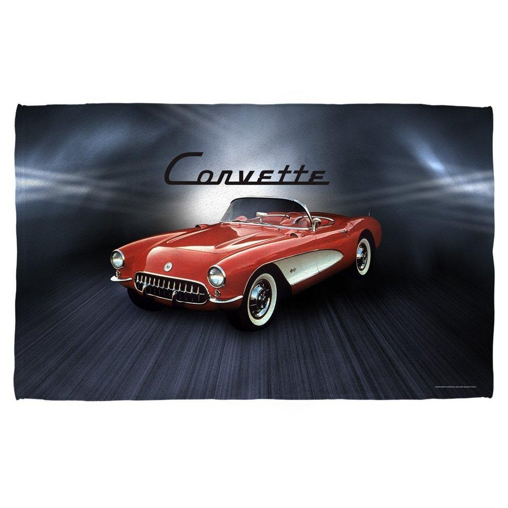 Chevy Corvette Shine Beach Towel White Beach 36X58