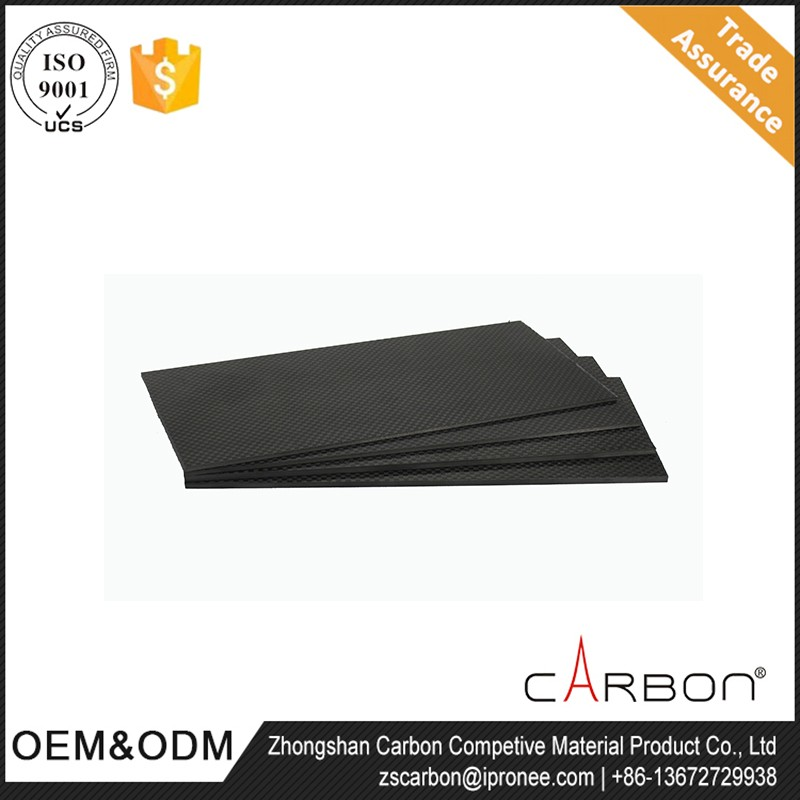 new design CNC cuting UD surface carbon fiber sheet for rc model airplane / as quadcopter parts