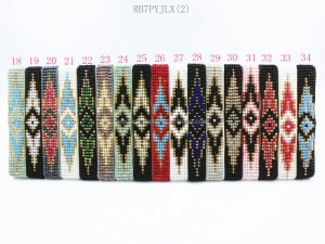 Handmade Bracelet Hippy Japan Seed Beads Evil Eye 7Row Friendship Woven Rope Glass Beads Bracelets For Women Men 2017 Party Gift