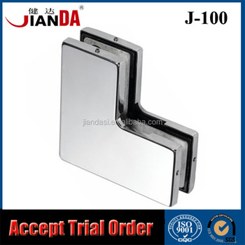 New Safe Swing Glass Door Hardware Corner Patch Fitting