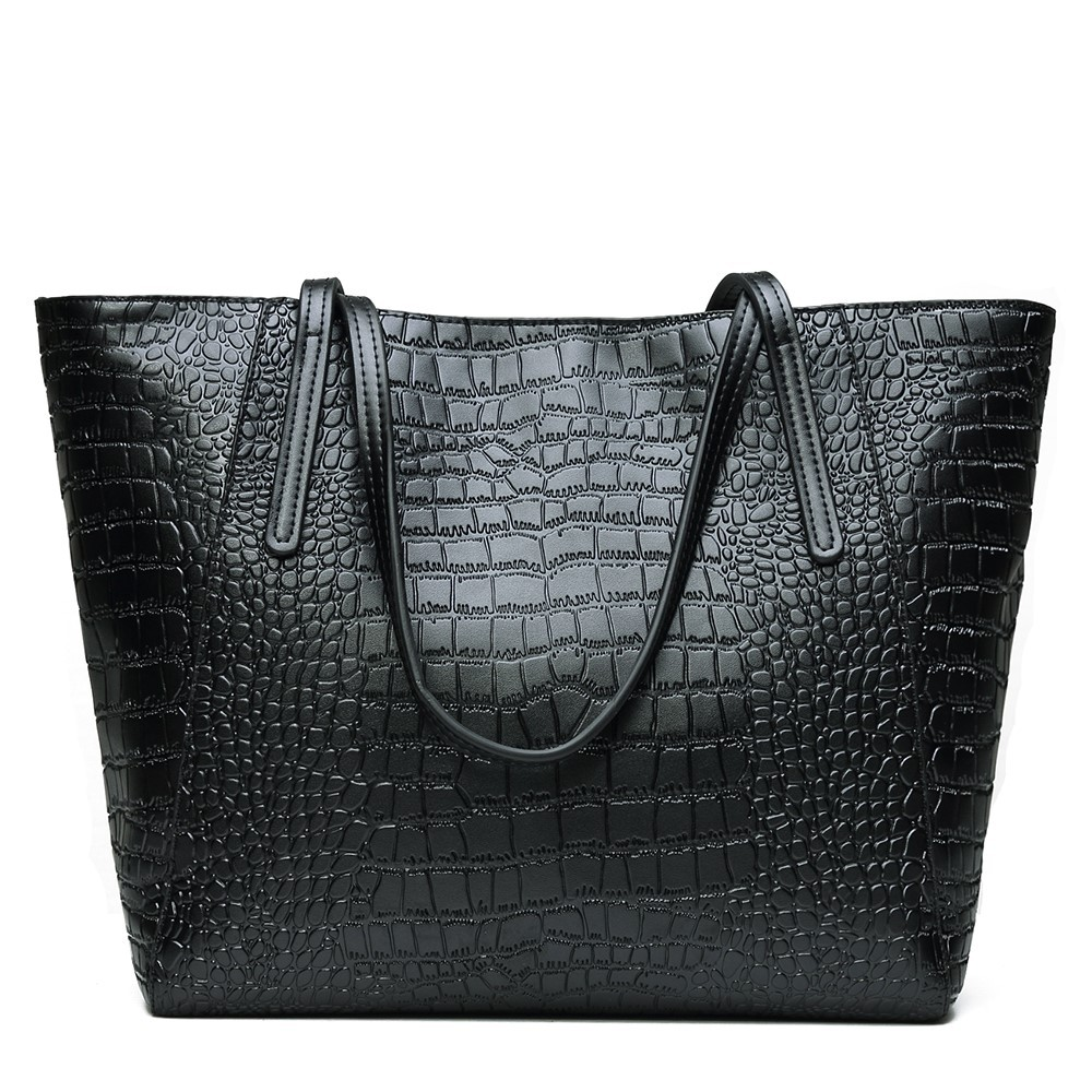 Hot selling Vintage Women's handbags <strong>leather</strong> cowhide handbag <strong>genuine</strong> <strong>Leather</strong> tote bag Crocodile Grained Soft <strong>Leather</strong> handbags