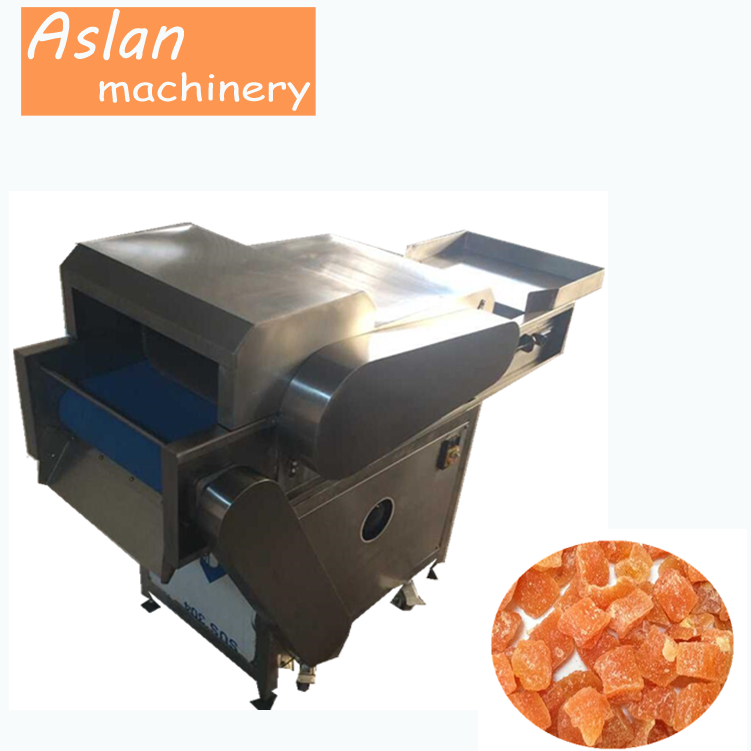 dried fruit cube dicing machine/preserved fruit dicier/candied fruit cube cutting machine