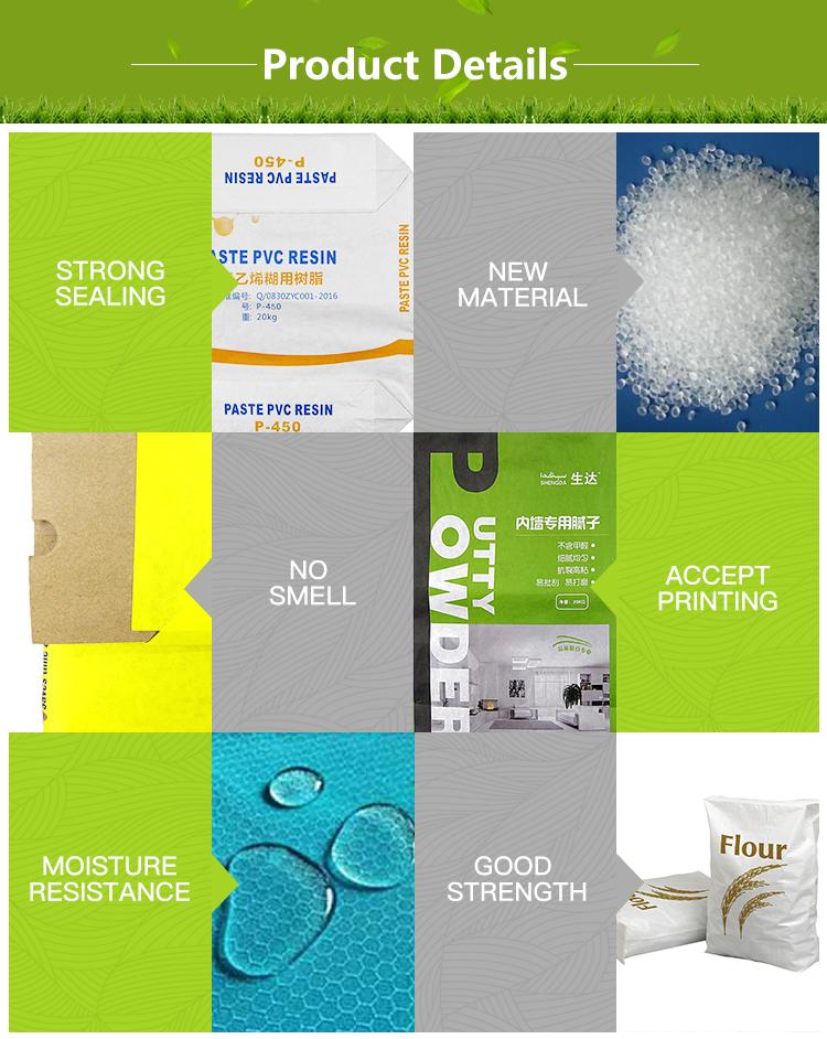 Atacado Impresso Válvula de Papel Kraft Saco de Embalagens de Fertilizantes cimento 50Kg