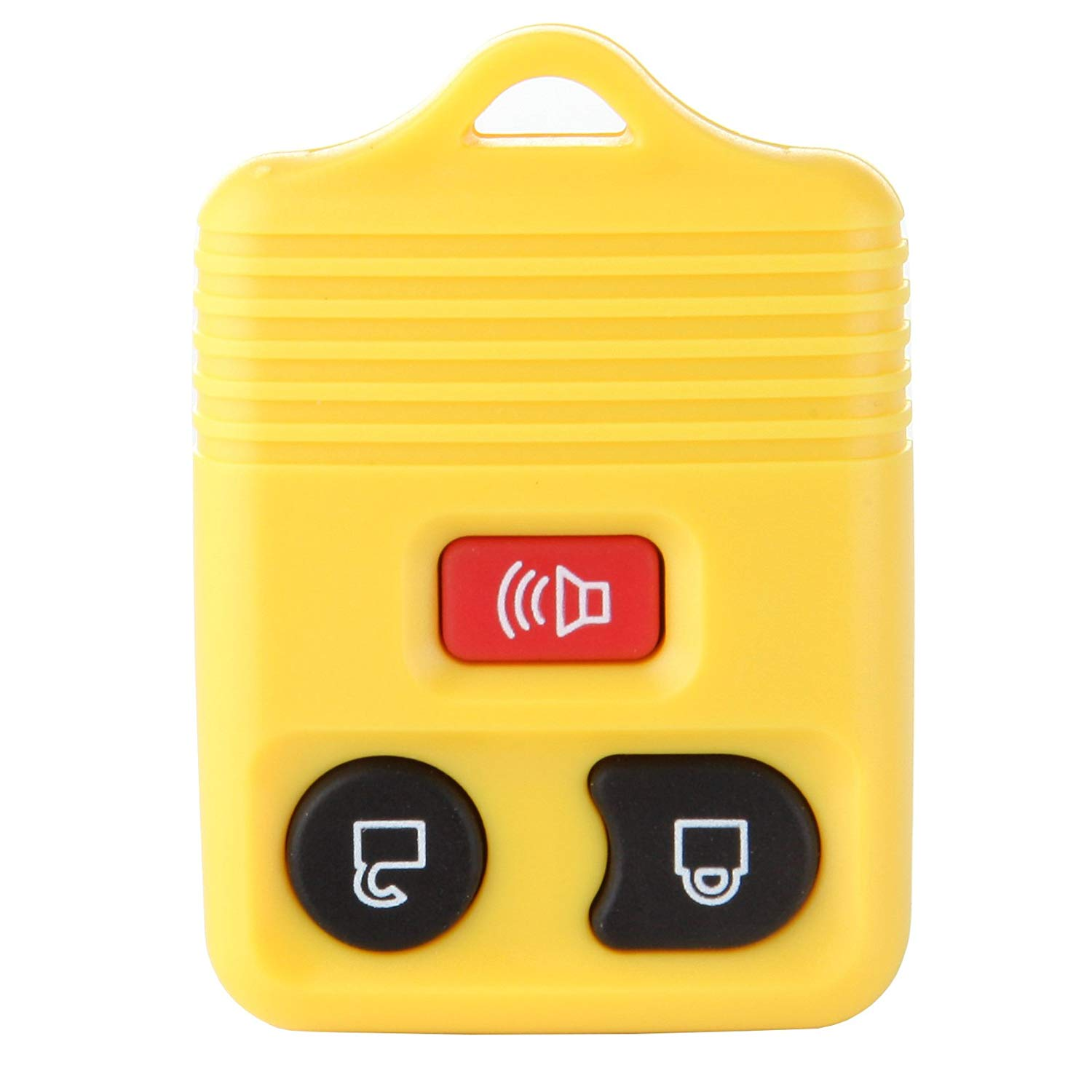 cciyu New Replacement Alarm Remote Keyless FOB Key Shell Pad Case Without Chip Yellow