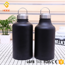 Customized Promotion 1900ml Cold Drink Insulated Double Wall Water bottles Stainless Steel Vacuum Beer Growler