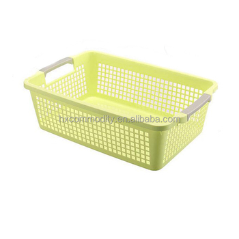 Kitchenware Wicker Basket Plastic Vegetable With Handle
