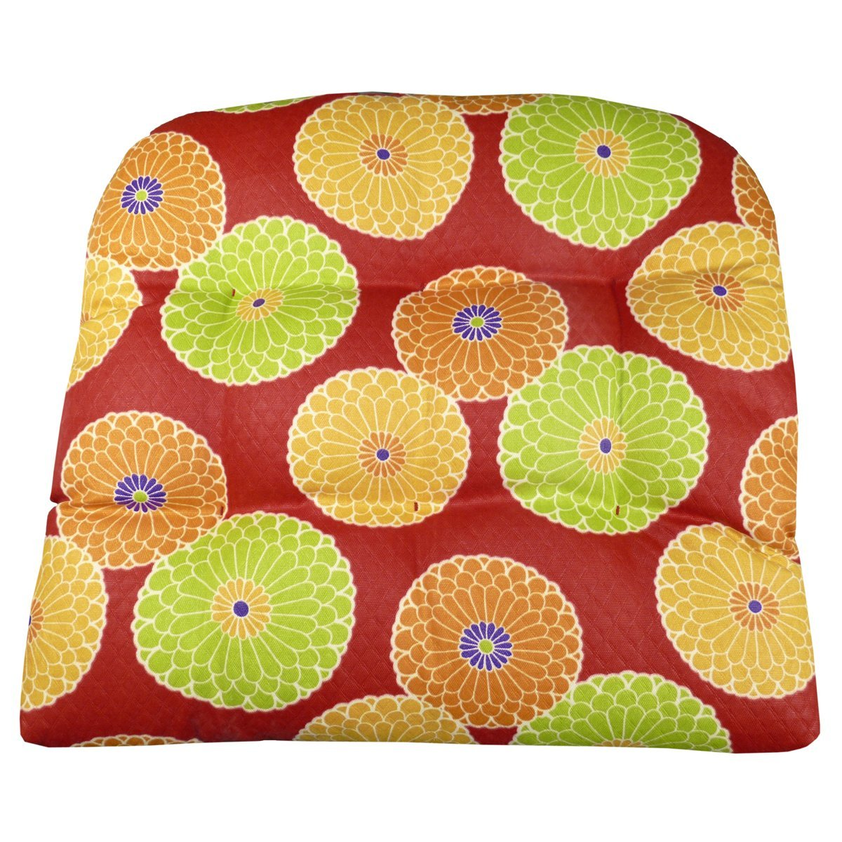 Buy Outdoor Patio Furniture Mid Back Chair Cushion Floral Cafe In