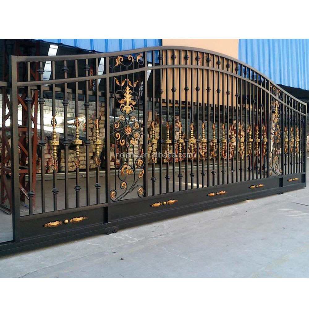 best sales main house iron gate design, metal driveway gates, compound wall gate design