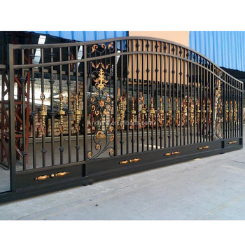best sales main house iron gate design metal driveway gates compound wall gate design