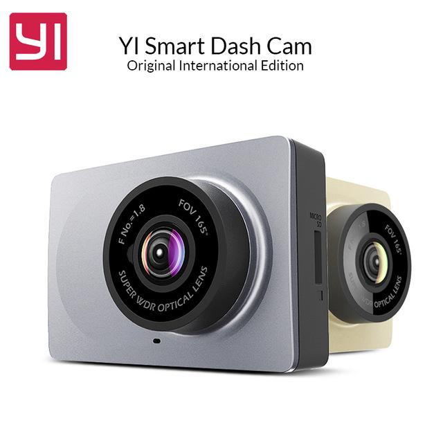 """Orijinal YI Dash Kamera 2.7 """"Full HD 1080 P 60fps 165 derece Geniş Açılı Araba DVR Araç Yi Çizgi Kam G-Sensor Gece Görüş ile"""
