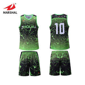 f26cbbacc28b Sublimated Basketball Jersey Uniform Design Green Wholesale