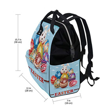89a115ab98 Mother bag Travel Backpack Diaper Bag Daypack Nappy Bags for Baby Care  Happy Easter Day Bunny