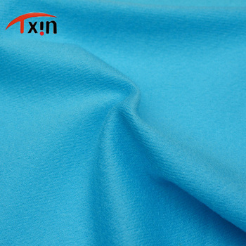 polyester brushed dty fabric one side brushed polyester knitted fabric for clothing