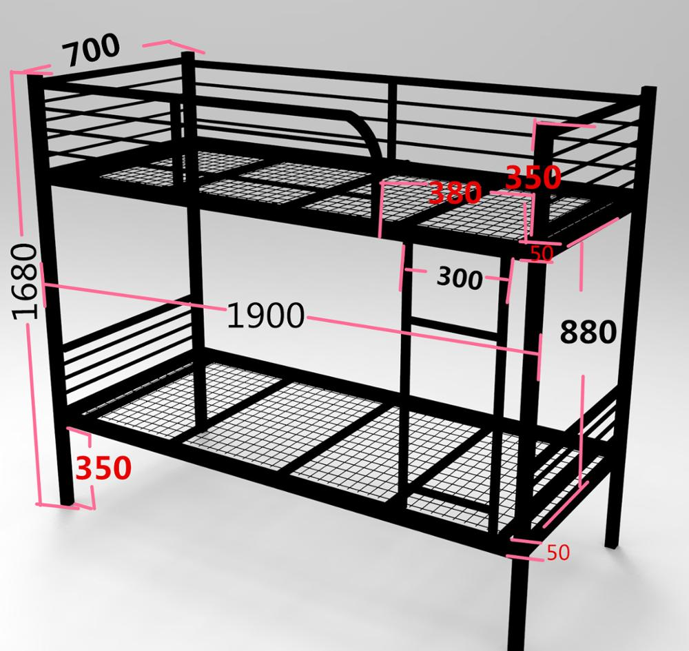 Steel double deck bed - Steel Double Decker Kid Bunk Bed Colorful Metal Adult Children Bed