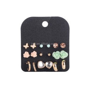 Fashion New Designs Jewelry Earrings For Women Girls Assorted Gold/Silver Plated Multi Shapes Small Stud Earrings Earring Set