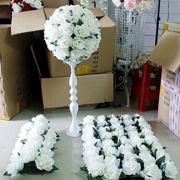 Spr Pas Cher En Gros Rose Artificielle Arche De Mariage Fleur Mur