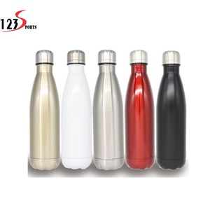 Stainless steel 12 OZ vacuum cola shaped water bottle vacuum insulated bottle with custom logo