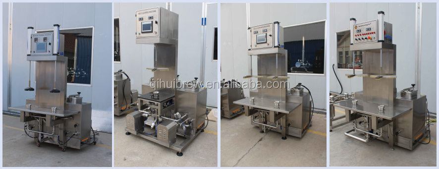 2 head beer keg filling machine used brewery system