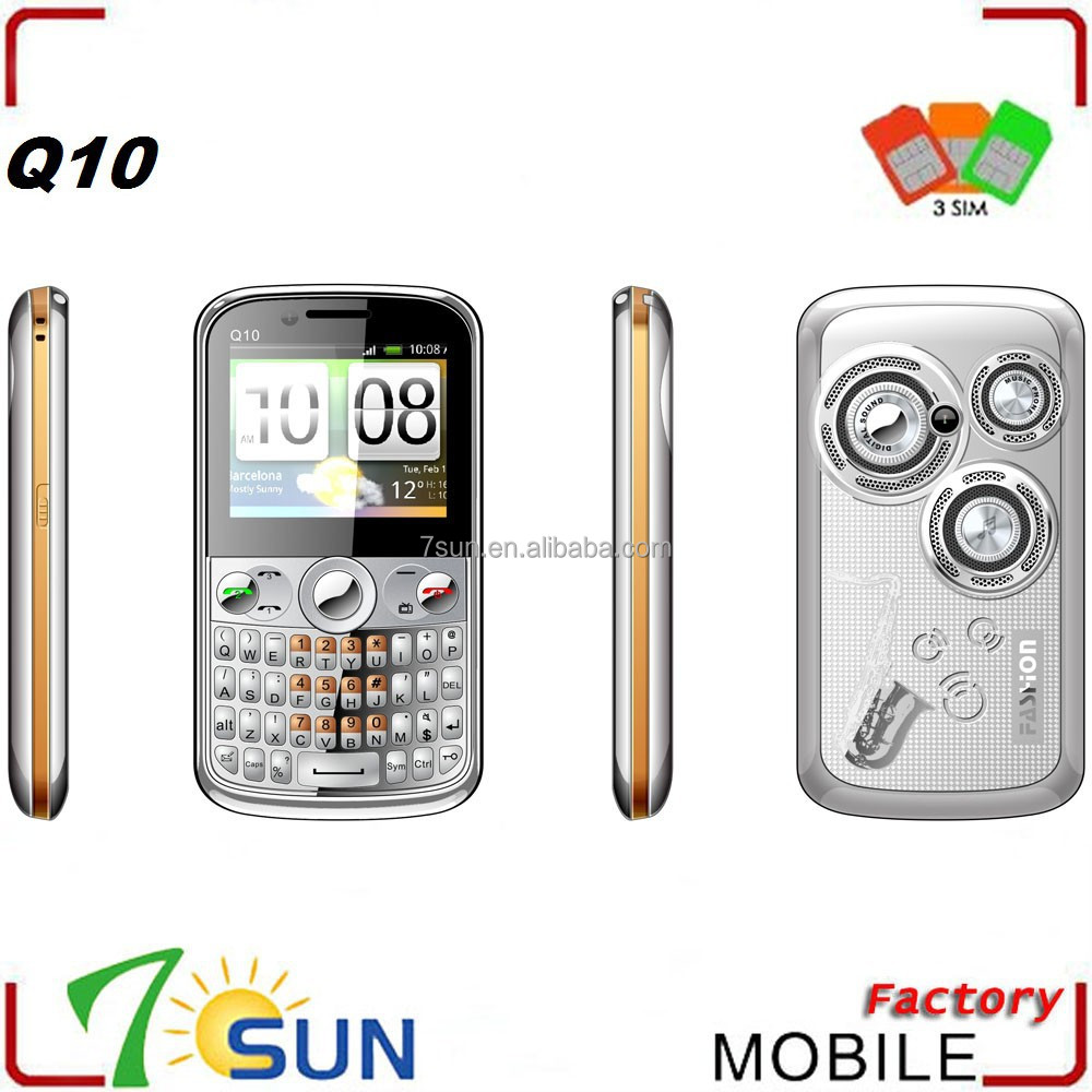 Q10 three sim cards mobile phones