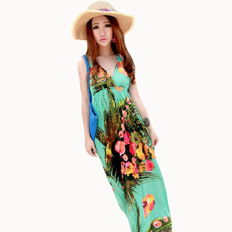 Plus size Bohemian dresses brand new women clothing 2015 ...