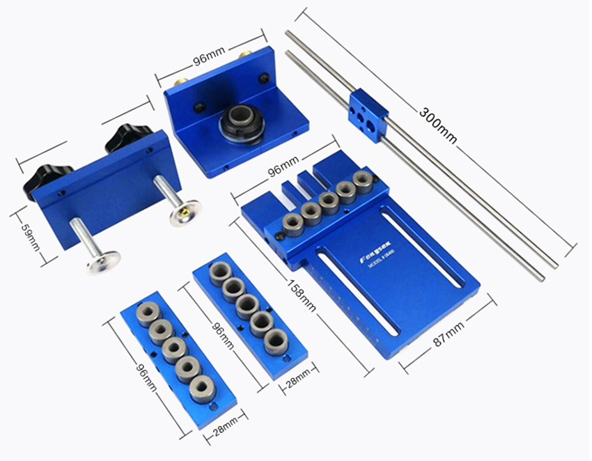 Pocket Hole Jig Kit System For Wood Working & Joinery + Step Drill Bit & Accessories Wood Work Tool Set