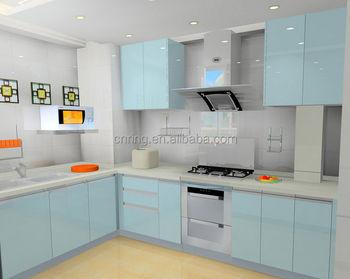 Kabinet Dapur Modern Kaca Akrilik