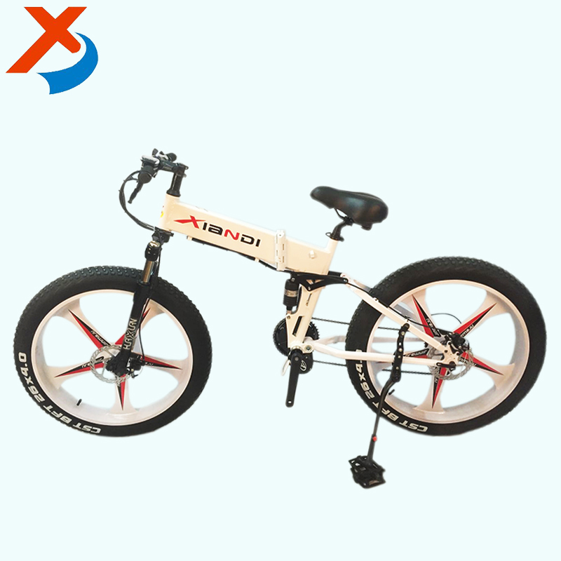 Factory selling high quality full suspension hidden battery 26 inch magnemsium wheel folding fat ebike bike with 250W-350W motor