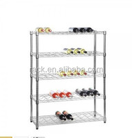 1601L- Multi-functional 5 Tiers Chrome Metal NSF Approval Wine Display Shelf