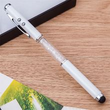 Hot selling elegant design wholesale multicolor crystal roller pens touch phone
