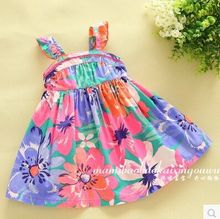 2015 new summer Korea style baby girls colorful flower suspender tutu font b dresses b font