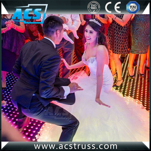 disco/club/dj/events editable 8x8 pixel digital video led dance floor