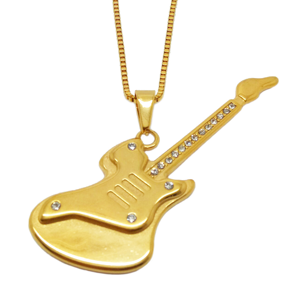 Gold guitar necklace wholesale guitar necklace suppliers alibaba aloadofball Choice Image