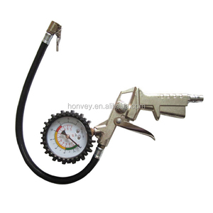 Attractive 220PSI Auto Car Bicycle Tire Pressure Gauge Meter Air Inflator Gun Flexible Hose