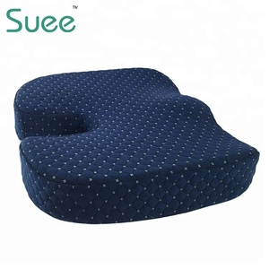 Chinese Ventilated Orthopedic Anti Hemorrhoid Coccyx Low Back Support Bench Chair Memory Foam Seat Cushion With Cover