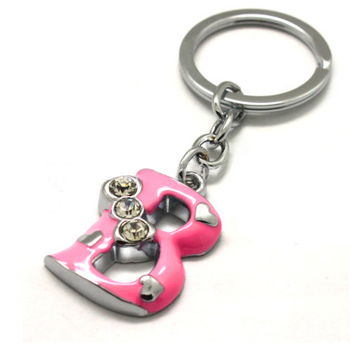 3d Bling Diamond Alphabet Letter Keychain,Crystal Rhinestone Logo ...
