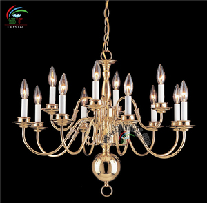 candle chandelier brass hanging lamp