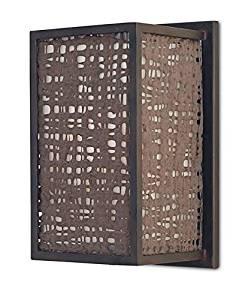 Currey & Company Wall Sconce CURREY & COMPANY MODELLO 1 -Light Old Iron Windchime Bon
