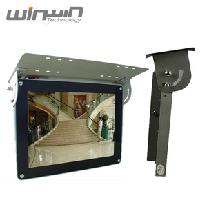 Wide Screen Ceiling Mount Bus LCD Media player Digital Signage Metal Case