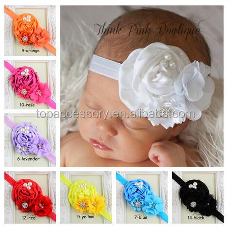 Pearls Decorated beautiful Baby Headbands, Child Hair Accessory