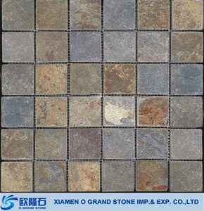 Rusty non-slip large patio exterior wall slate tile