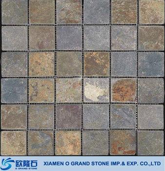 Rusty Nonslip Large Patio Exterior Wall Slate Tile Buy Slate