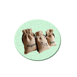Burlap bags printed natural fabric eco friendly free sample drawstring burlap jute coffee bag manufacturer