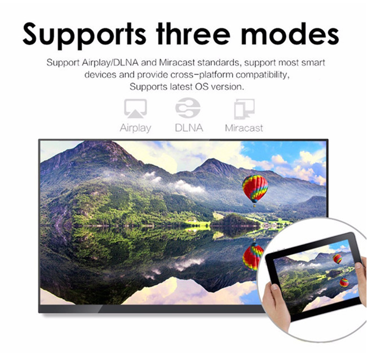 Excellent quality AnyCast ezcast dongle 4k google ezcast HD/VGA to connect to TV /Monitor/Projector/Speaker, etc...