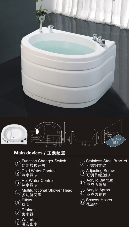 Hs-b02 Mini Bathtub,Small Size Bathtub,Small Bathtub - Buy Mini ...