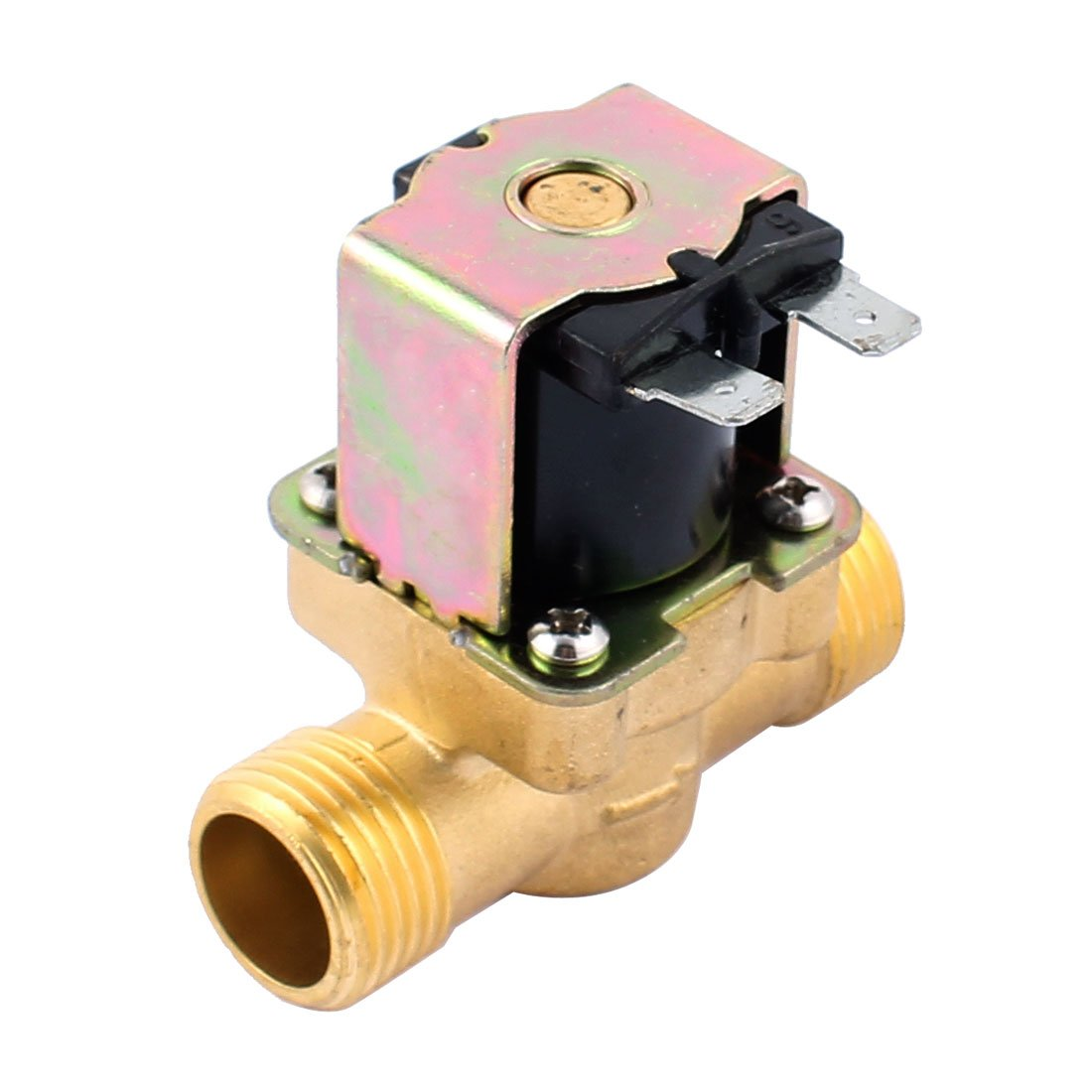 """uxcell G1/2"""" Male High-Temperature 120C Water Brass Electromagnetic Solenoid Valve 3-25L/M 12V 120C"""