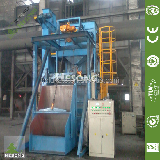 Shot Blaster / Rubber Belt Conveyor Sandblasting Machine