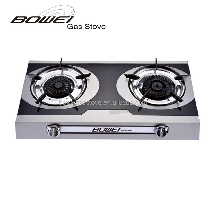 2015 Free Standing LPG Cooker Stainless Steel 2 Burner Gas Stove Parts